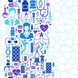 Medical and health care seamless pattern Royalty Free Stock Photos