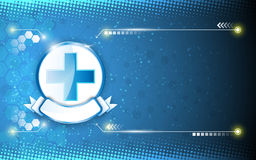 Medical health care sign on abstract background Stock Image