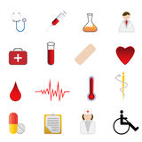 Medical and health care symbols. Medical and health care related symbols icon set Stock Photography