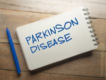 Medical and Health Care Words Typography Concept, Parkinson Disease. Medical and health care words writing typography lettering concept, Parkinson Disease royalty free stock image