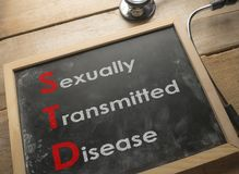 Medical and Health Care Concept, STD Sexually Transmitted Disease stock photo