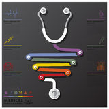 Medical And Health Connection Timeline Business Infographic. Design Template Stock Photography