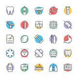Medical and Health Cool Vector Icons 8 Stock Photography