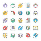 Medical and Health Cool Vector Icons 3 Royalty Free Stock Photography