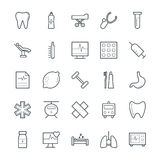 Medical and Health Cool Vector Icons 8 Stock Images