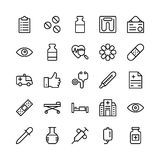 Medical, Health and Fitness Line Vector Icons 11 Stock Images