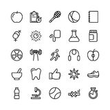 Medical, Health and Fitness Line Vector Icons 6. This Medical and Health Vector Icons Pack is filled with emergency and health related s that will prove to be so Royalty Free Stock Photo