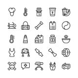 Medical, Health and Fitness Line Vector Icons 19 Stock Photos