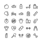 Medical, Health and Fitness Line Vector Icons 17 Royalty Free Stock Image