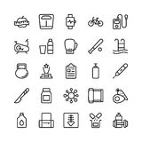 Medical, Health and Fitness Line Vector Icons 18. This Medical and Health Vector Icons Pack is filled with emergency and health related s that will prove to be Stock Image