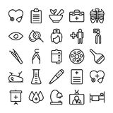 Medical, Health and Hospital Line Vector Icons 11 Stock Photo