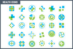 Medical and Health Icon Set Stock Images