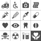 Medical and health icon set. Simplus series. Vector illustration Stock Photo