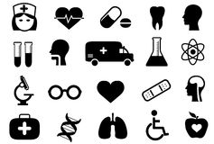 Medical and health icon set Stock Photography