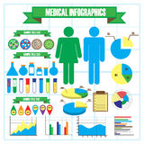 Medical and health icons, infographic elements Royalty Free Stock Images
