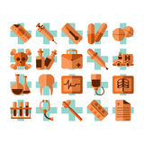 Medical & Health Icons Set Stock Photography