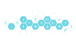 Medical and health icons vector background. Medicine and health  background concept Royalty Free Stock Photography
