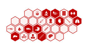 Medical and health icons vector background Royalty Free Stock Photos