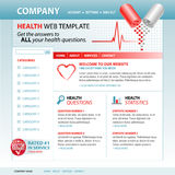 Medical Health Internet Website Template. A medical, health internet website template with pills and a heartbeat pulse in the header. Add your text to the Stock Photography