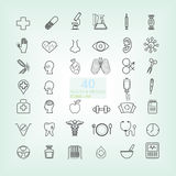 40 Medical & Health line icon Royalty Free Stock Photo