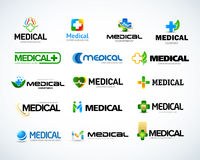 medical pharmacy logo design template isolated vector illustration