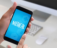 Medical Health medical service Medical Health Wellbeing Care  m Royalty Free Stock Images