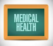 Medical health message illustration design Stock Photography