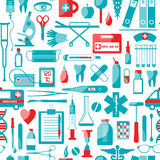 Medical and health seamless pattern. Royalty Free Stock Photos