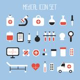 Medical and health vector colorful icons set. Royalty Free Stock Photography