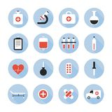 Medical and health vector colorful icons set. Stock Photography