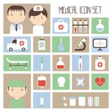 Medical and health vector colorful icons set. Royalty Free Stock Photos