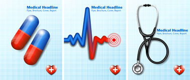 Medical Healthcare Background Covers Royalty Free Stock Photography