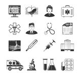 Medical And Healthcare Black Icons Royalty Free Stock Image