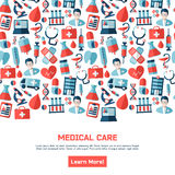 Medical healthcare brochure Royalty Free Stock Images