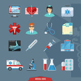 Medical And Healthcare Colorful Icons Royalty Free Stock Photo