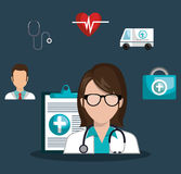 Medical healthcare design. Illustration eps10 graphic Royalty Free Stock Photo