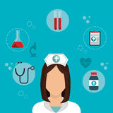 Medical healthcare design. Illustration eps10 graphic Royalty Free Stock Images