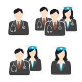 Medical Healthcare Doctor and Nurse Icons Stock Photography