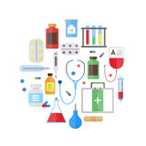 Medical Healthcare Equipment Round Design Template Icon. Vector Stock Photography