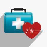 Medical healthcare graphic design with icons Royalty Free Stock Photography
