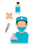Medical healthcare graphic design with icons Stock Photo