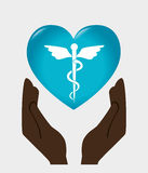 Medical healthcare graphic design with icons. Vector illustration Royalty Free Stock Photo
