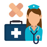 Medical healthcare graphic design with icons Stock Images