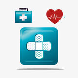 Medical healthcare graphic design with icons. Vector illustration Stock Photos