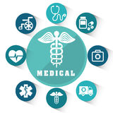 Medical healthcare graphic Royalty Free Stock Image
