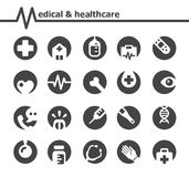 medical icon set inverde style stock illustration