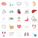 Medical and healthcare icon set Royalty Free Stock Image