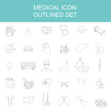 Medical and healthcare icon set Royalty Free Stock Photography