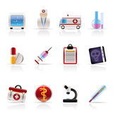 Medical and healthcare Icons Royalty Free Stock Images