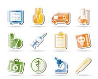 Medical and healthcare Icons Royalty Free Stock Photography